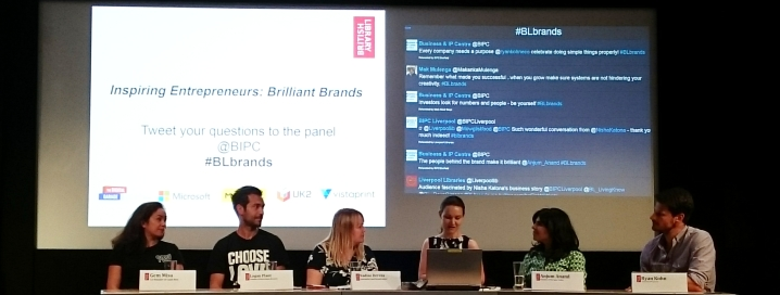 Inspiring Entrepreneurs: Brilliant Brands panel on stage